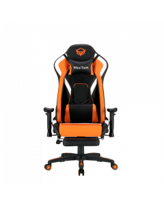 כיסא גיימינג עם הדום Meetion Gaming Chair CHR22 כתום/שחור